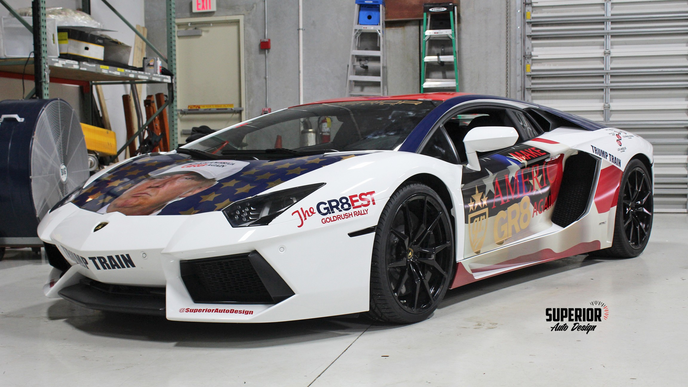 Lamborghini Trumpventador The Trump Wrapped Aventador