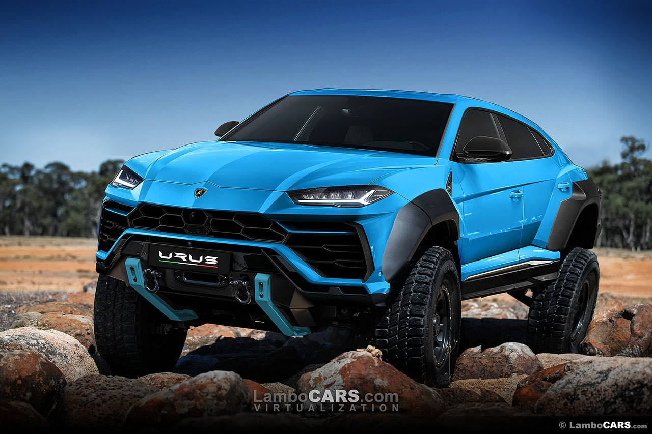 Lamborghini Urus Rendered With Tracks 6 Wheels And Crazy Limo Body