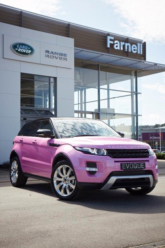 Land Rover Evoque Convertible >> Land Rover Dealer Creates Pink Evoque! - autoevolution