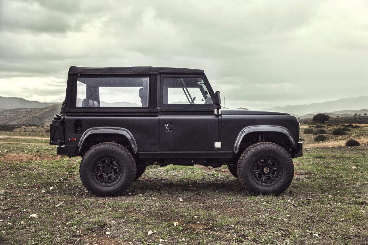 land rover defender 90 gets restomodded by icon video. Black Bedroom Furniture Sets. Home Design Ideas