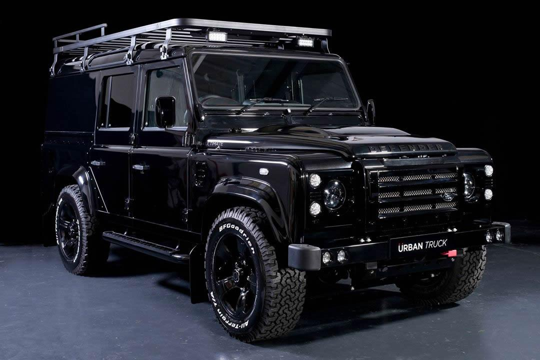 land rover defender gets tricked out by urban truck. Black Bedroom Furniture Sets. Home Design Ideas