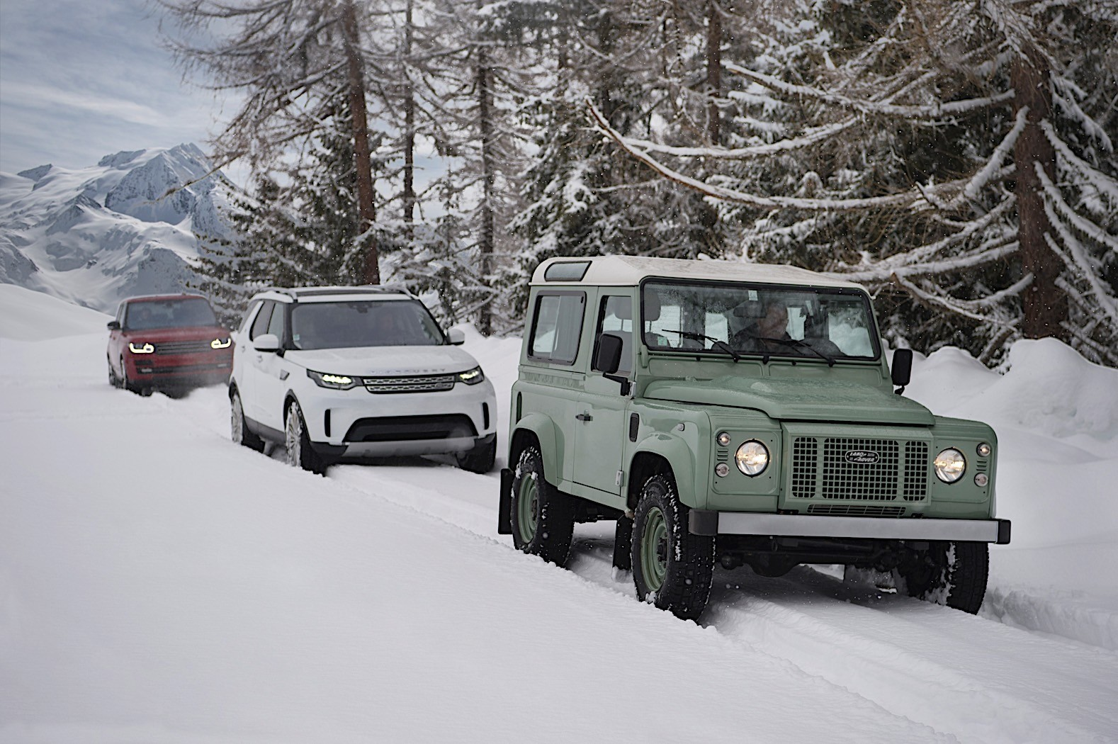 Land Rover Draws A 820 Foot Wide Defender Outline In The