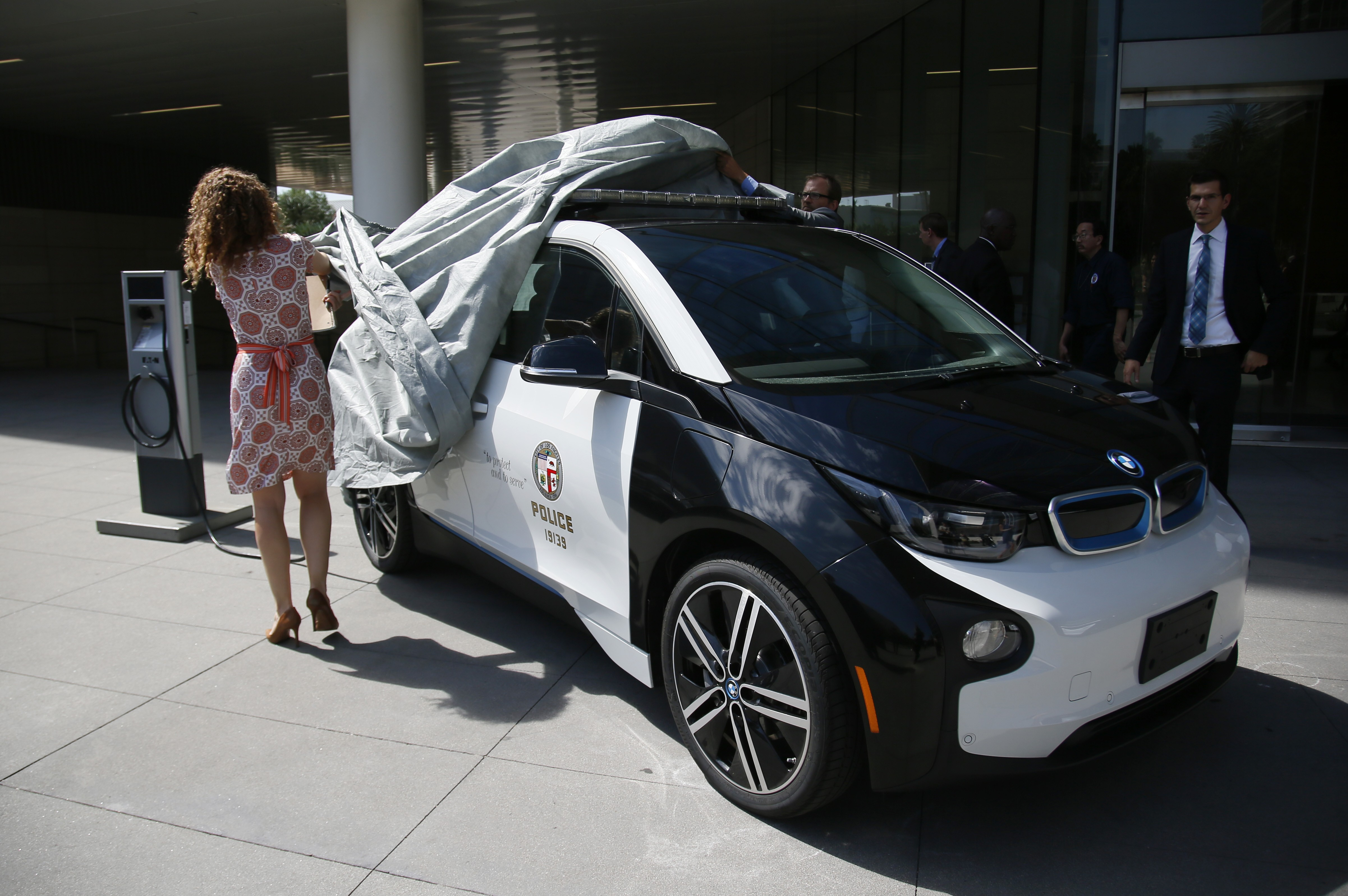 bmw i3 police car for lapd