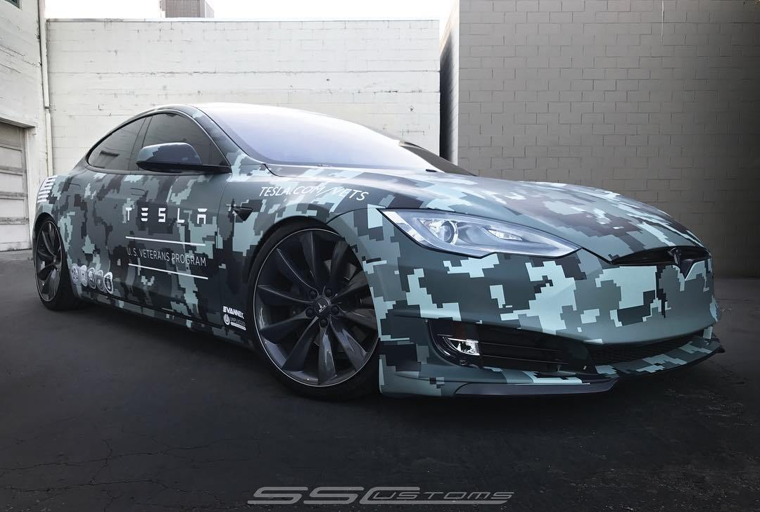 Tesla Model S Memorial Day Custom Wrap