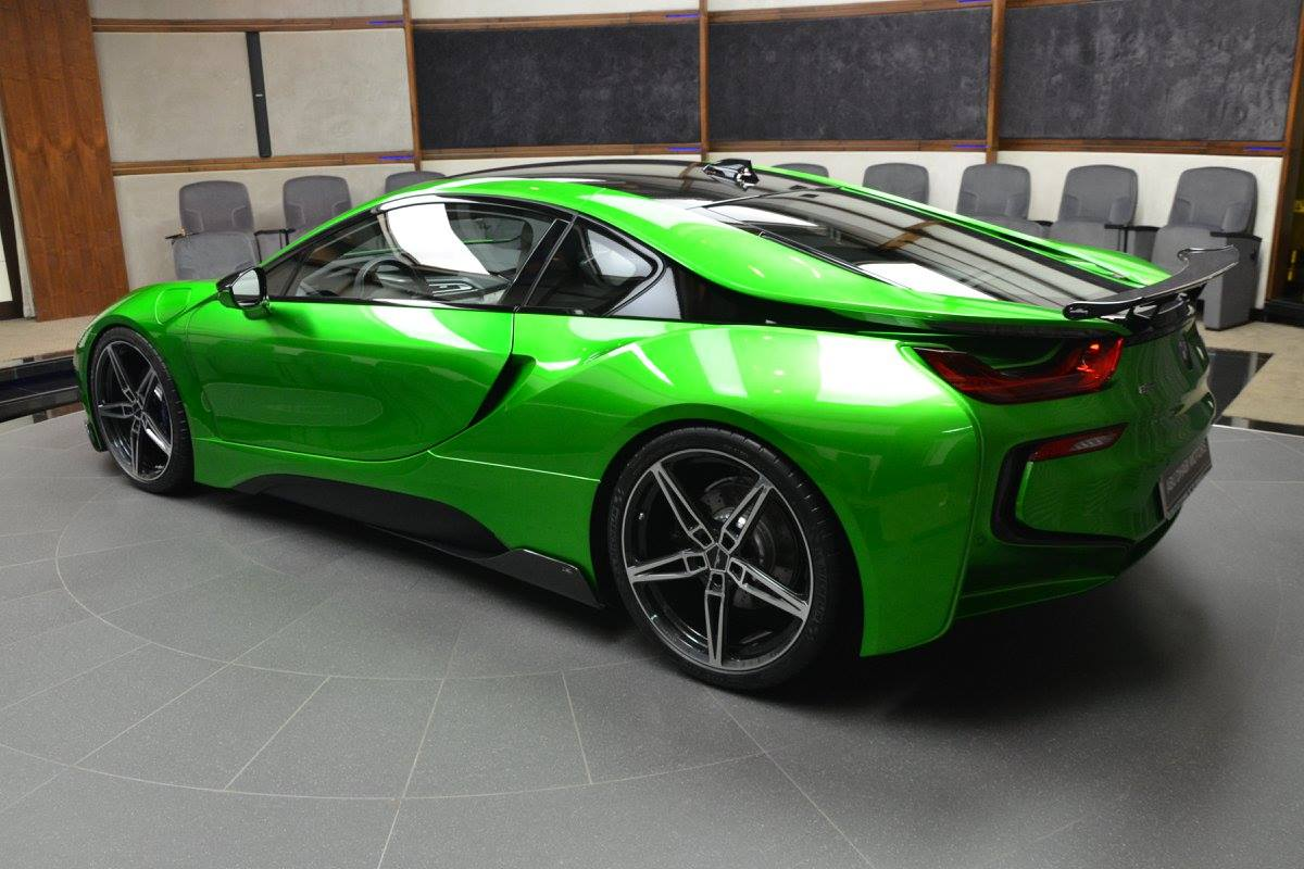 Lava Green BMW i8 Revealed in Abu Dhabi - autoevolution