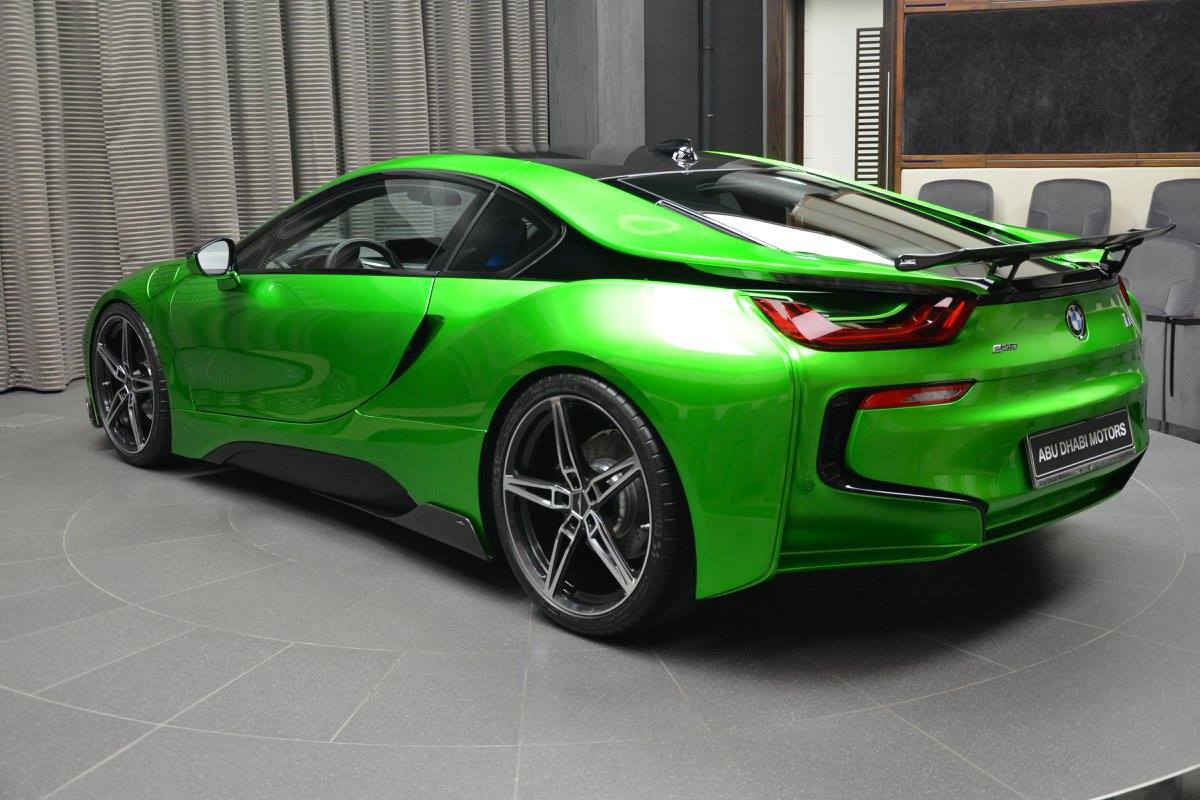 Lava Green Bmw I8 Revealed In Abu Dhabi Autoevolution