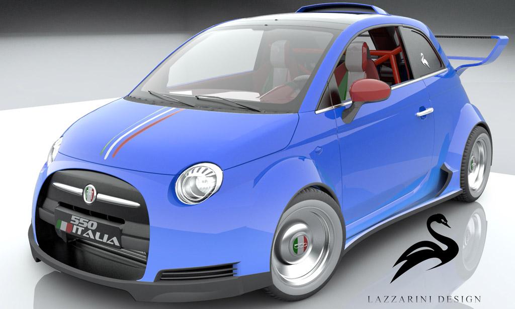 lazzarini design dreams up ferrari powered fiat 550 italia. Black Bedroom Furniture Sets. Home Design Ideas