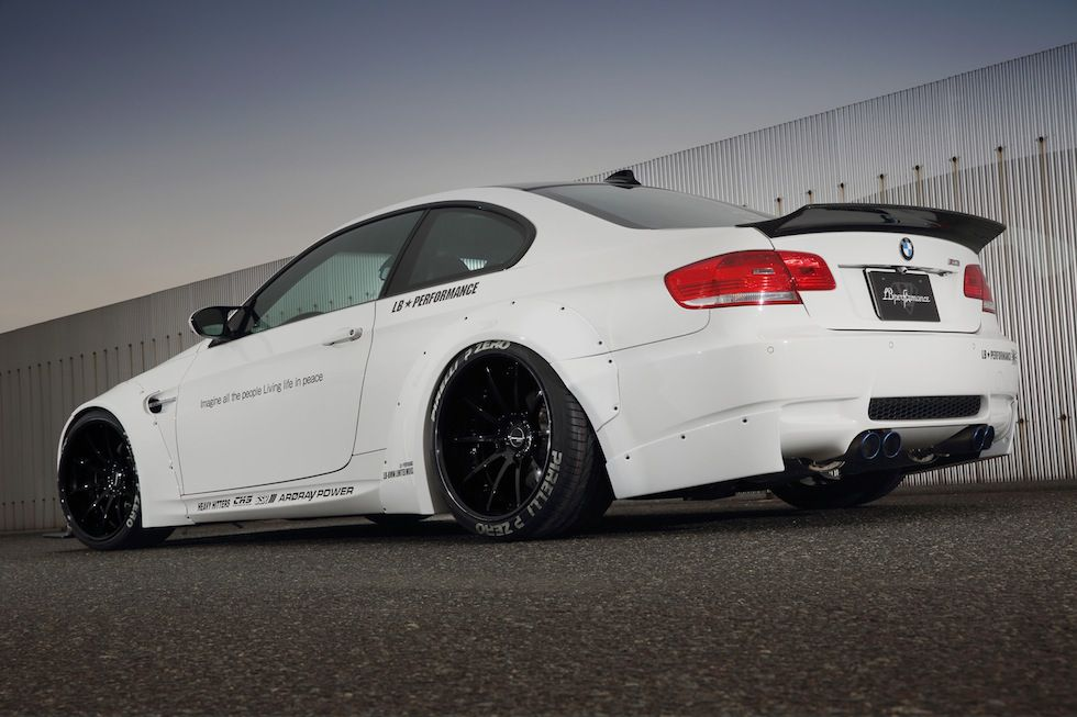 lb performance creates bolt on wide body kit for bmw e92. Black Bedroom Furniture Sets. Home Design Ideas
