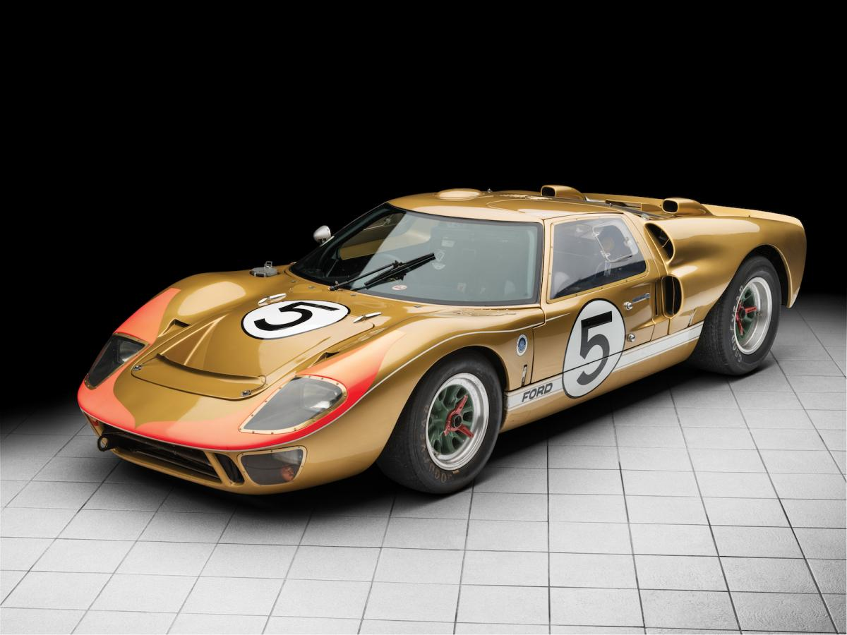 le mansraced ford gt40 heading to auction estimated to