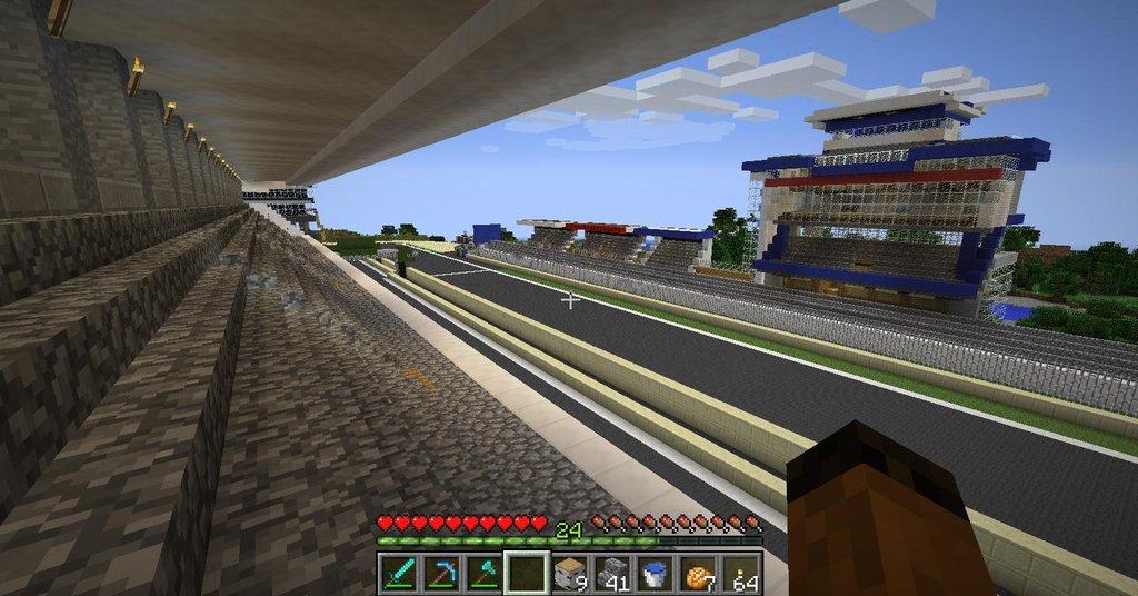 Le Mans Track Replica Built In Minecraft Autoevolution