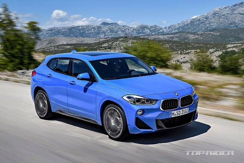 leaked 2018 bmw x2 f39 sdrive20i looks great in misano blue with m sport pack autoevolution. Black Bedroom Furniture Sets. Home Design Ideas