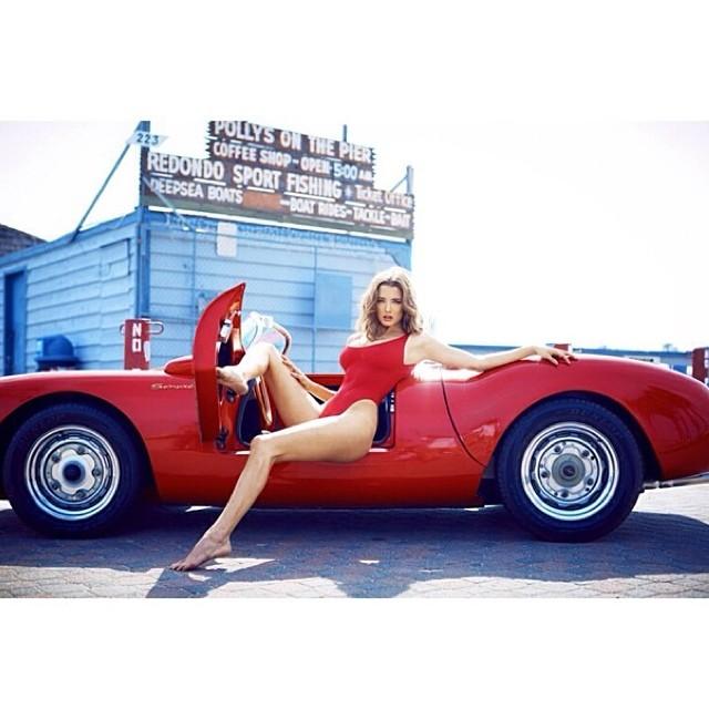 Legendary Porsche 550 Looks Better With Playmate Alyssa