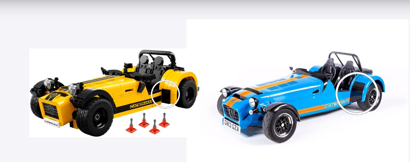 lego caterham seven 620r build video reveals a big problem no steering autoevolution. Black Bedroom Furniture Sets. Home Design Ideas