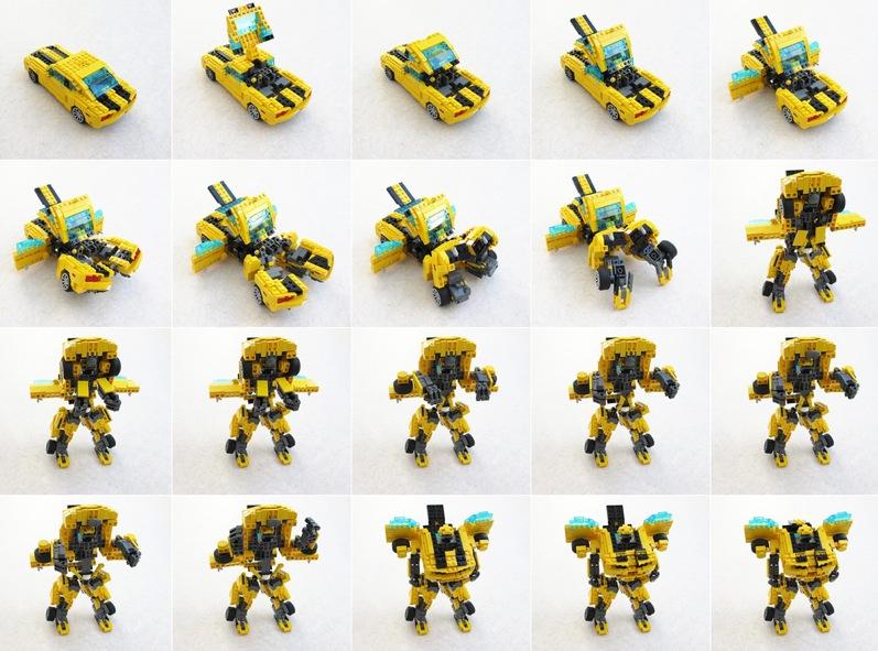 Как сделать из лего робота трансформера бамблби