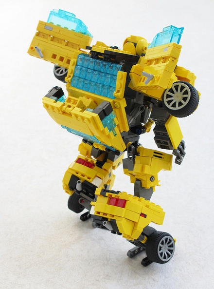 Lego Chevrolet Camaro Turns Into Transformer Bumblebee