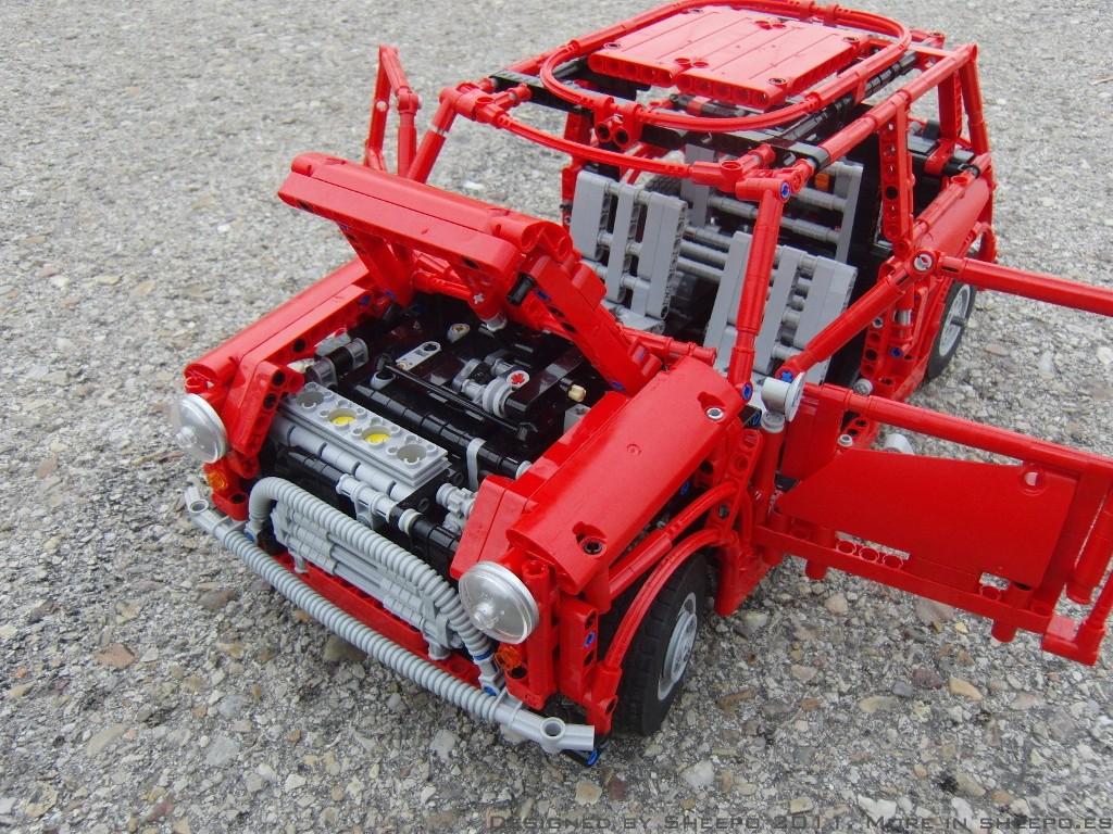 Nissan Tires LEGO Mark I Mini Cooper [Video] - autoevolution