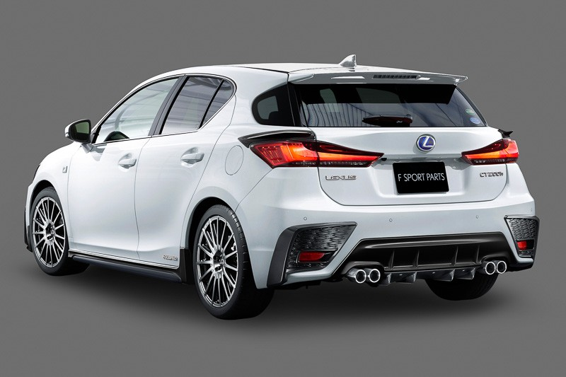 Lexus CT 200h Gets TRD Body Kit and Quad Exhaust in Japan