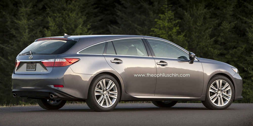 Toyota Latest Models >> Lexus ES Rendered as a Shooting Brake Is A Beautiful Abomination - autoevolution