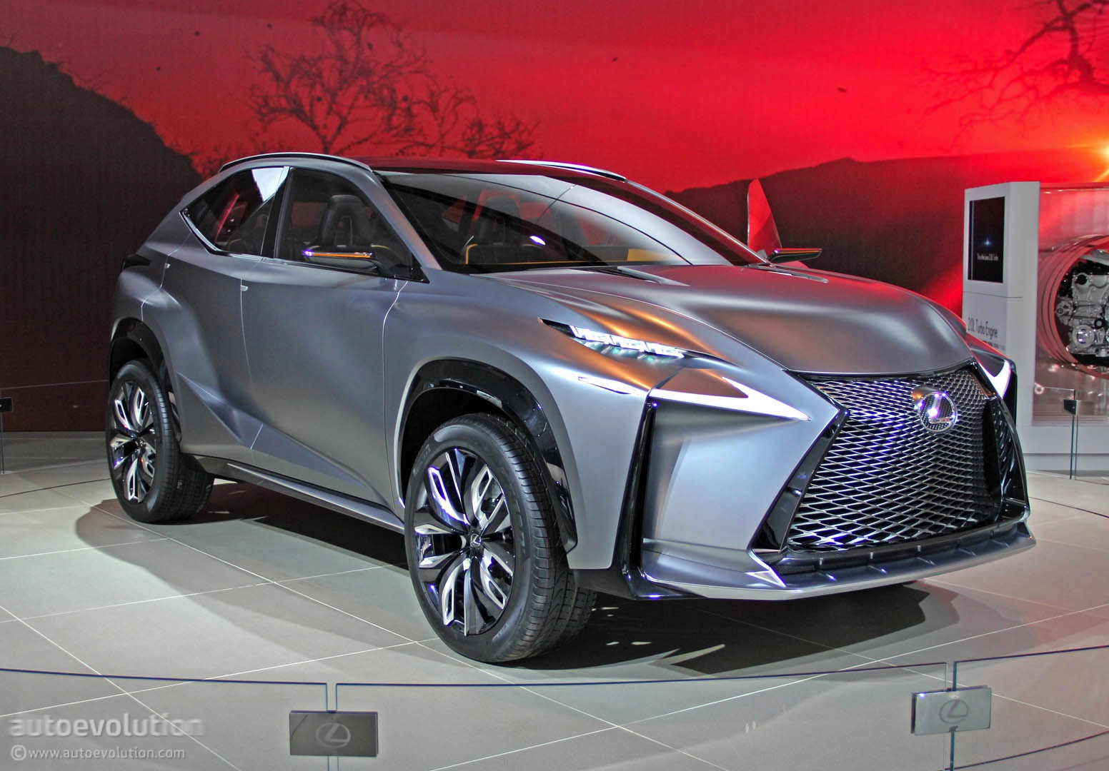 lexus lf nx turbo concept lands in detroit live photos autoevolution. Black Bedroom Furniture Sets. Home Design Ideas