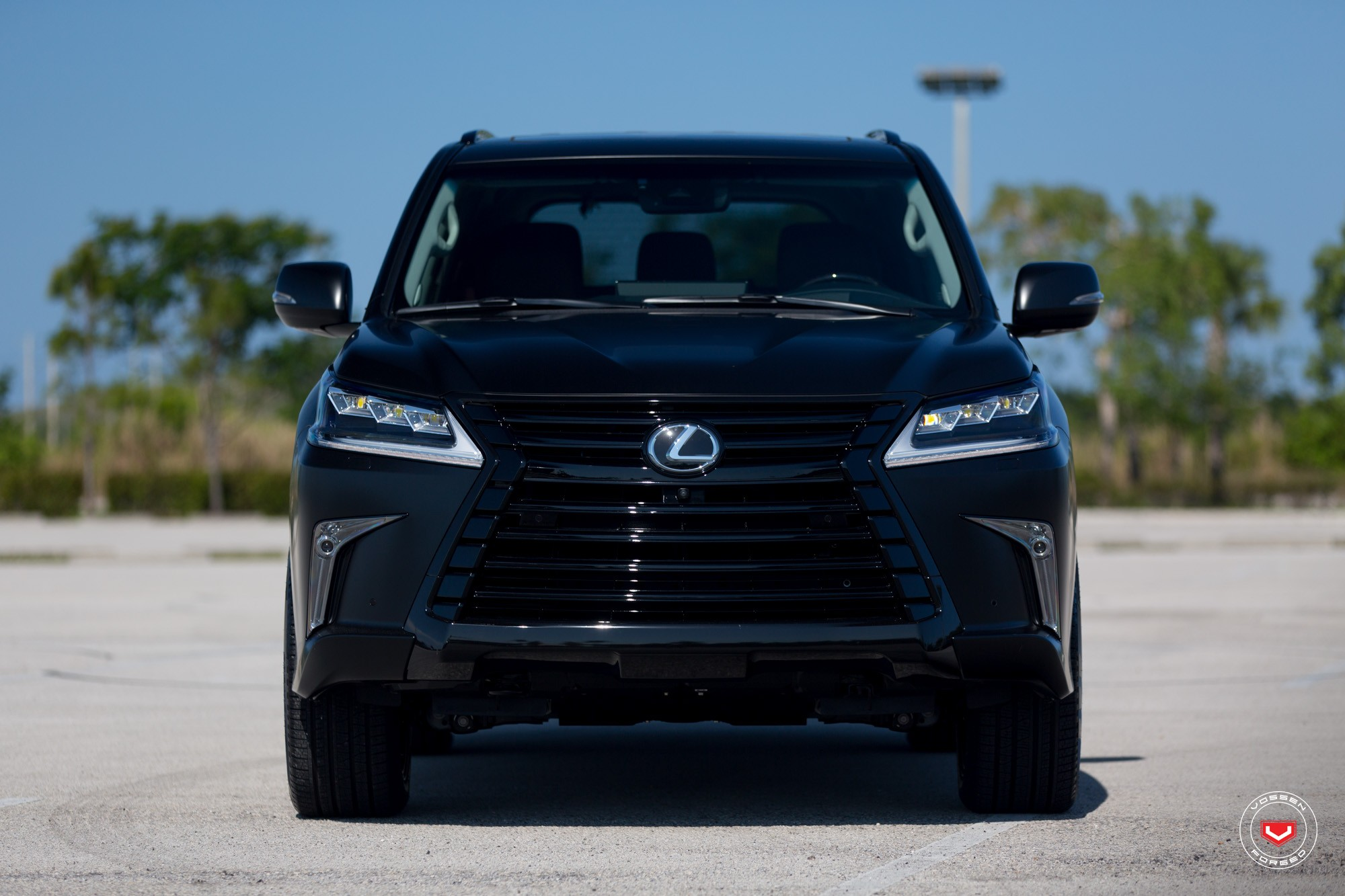 Lexus Lx 570 Gets Murdered Out Look And Vossen Wheels Autoevolution