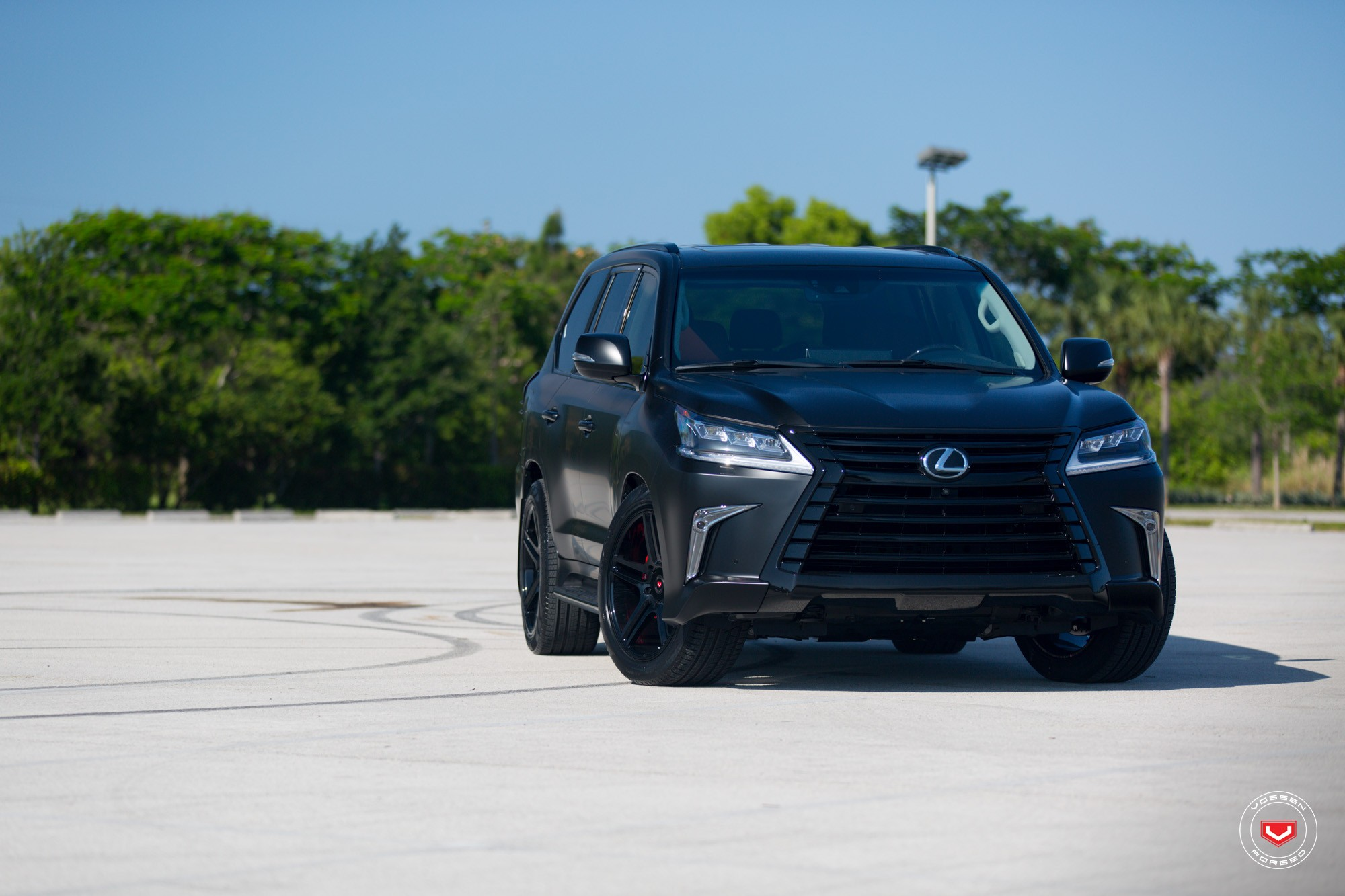 Lexus LX 570 Gets Murdered Out Look And Vossen Wheels
