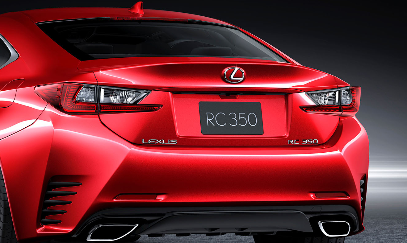 Lexus Rc  Red Paint