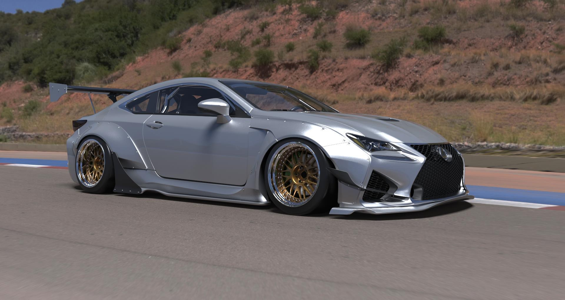 Lexus rc rc f rocket bunny kit available for preorder autoevolution