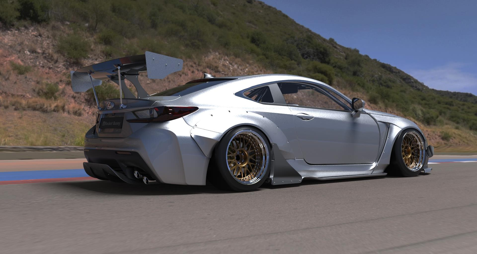 Lexus RC, RC F Rocket Bunny Kit Available For Preorder - autoevolution