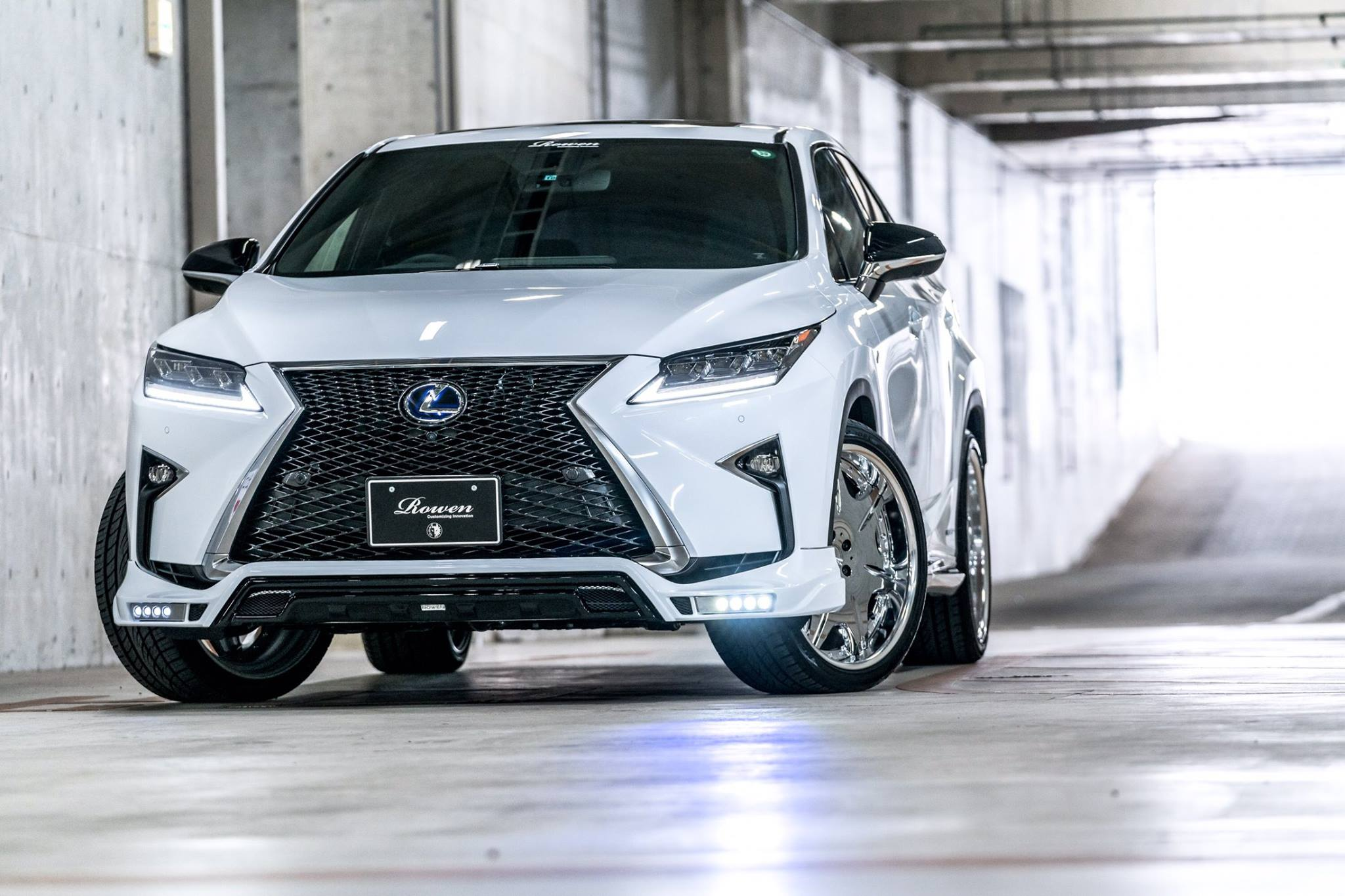Lexus Rx F Sport With Rowen Body Kit Has Quad Exhaust