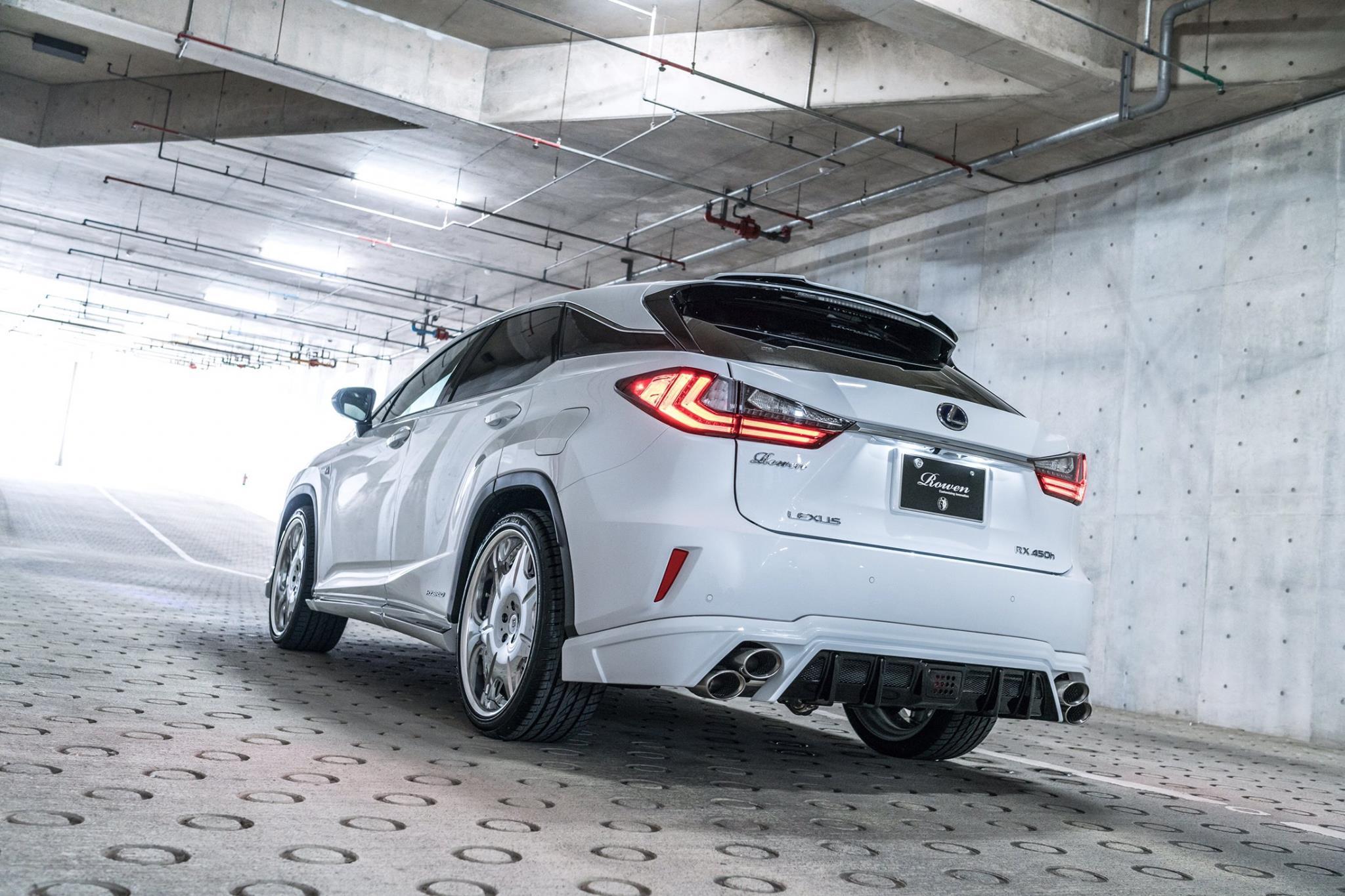 Lexus Rx F Sport With Rowen Body Kit Has Quad Exhaust