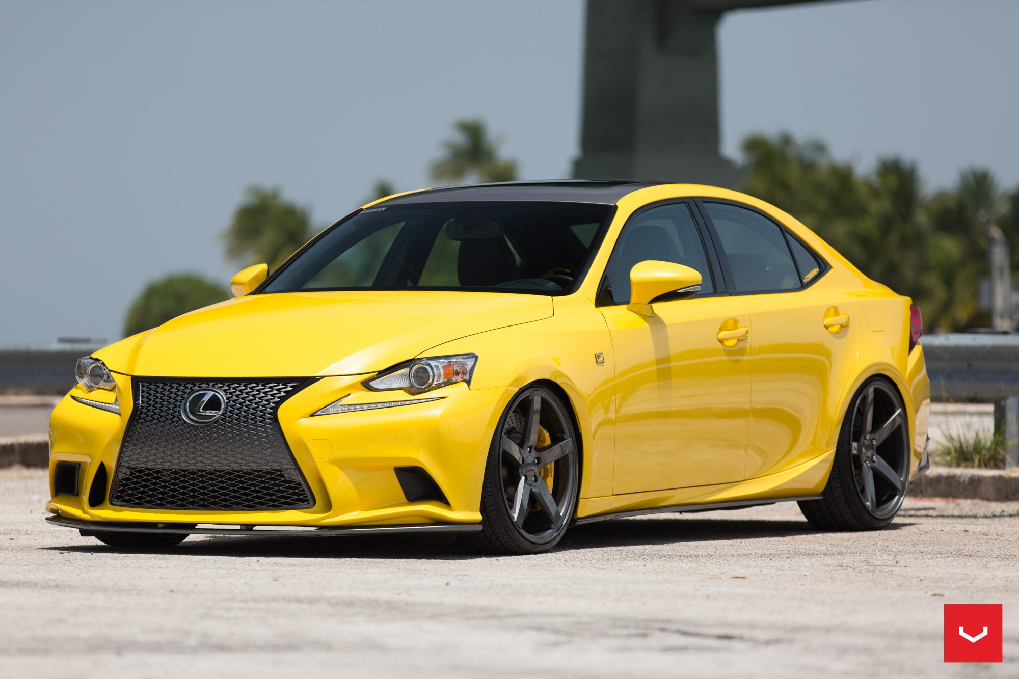 LFA Yellow Lexus IS 350 Sits On Vossen Wheels