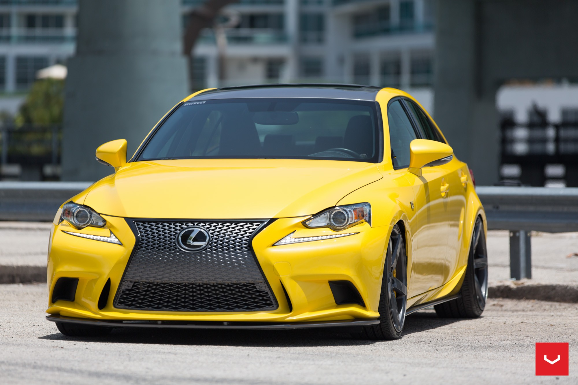 lfa yellow lexus is 350 sits on vossen wheels autoevolution. Black Bedroom Furniture Sets. Home Design Ideas