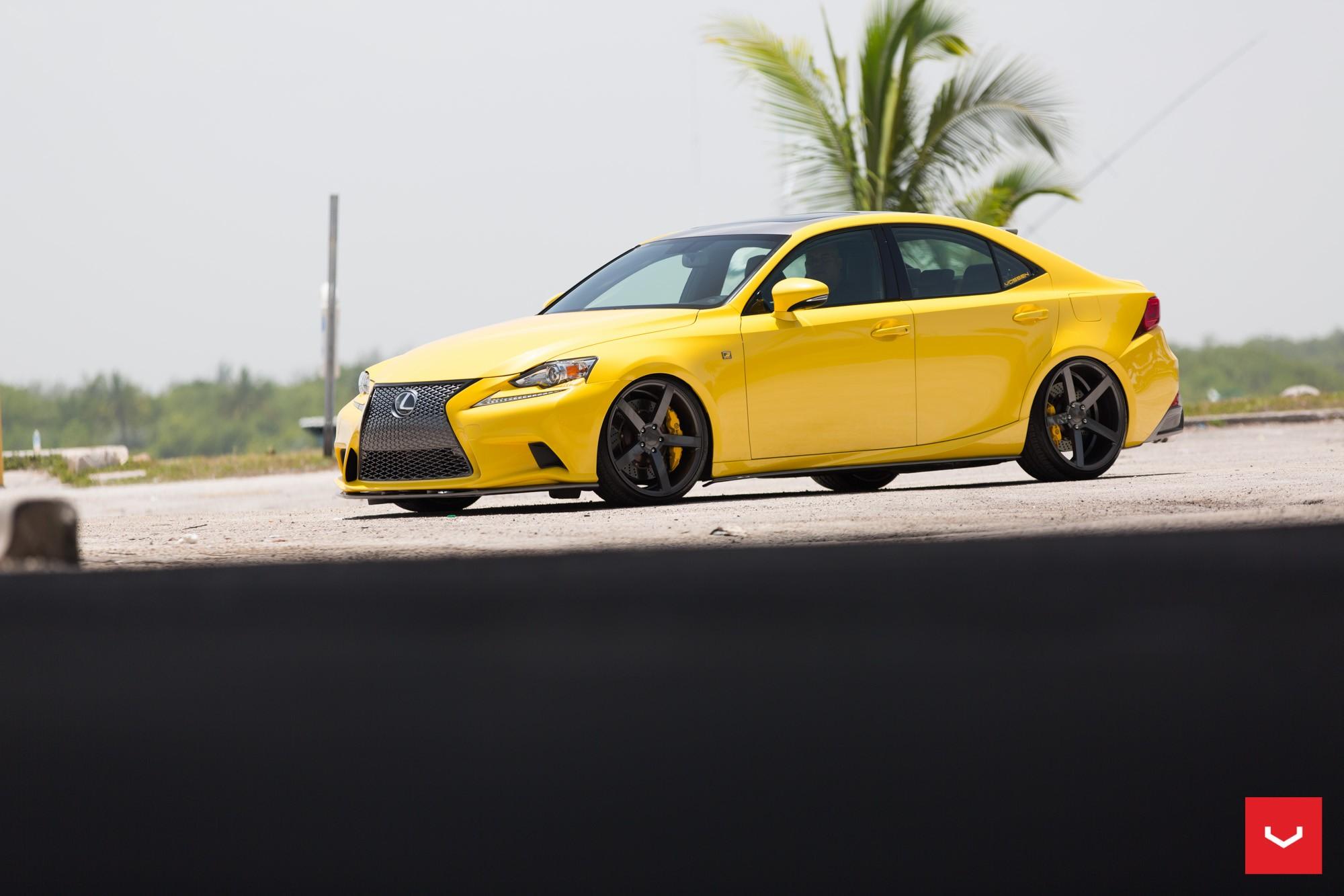 LFA Yellow Lexus IS 350 Sits On Vossen Wheels Autoevolution