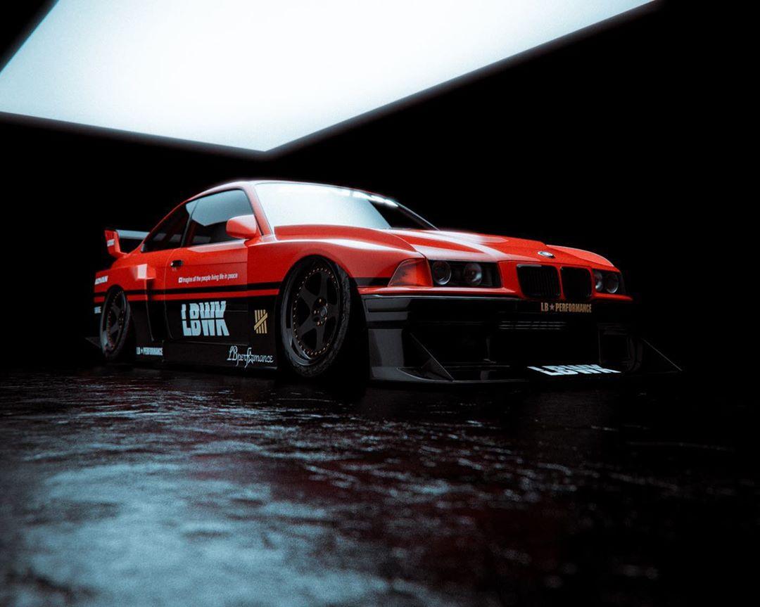 Liberty Walk Bmw E36 Coupe Silhouette Looks Like A German Gt R Autoevolution