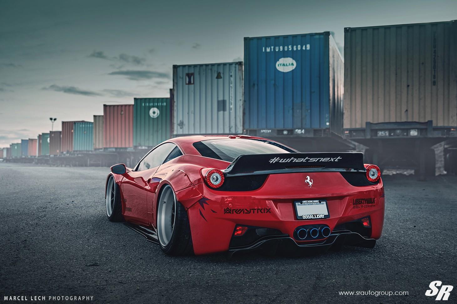 Liberty Walk Ferrari 458 Italia on PUR Wheels: Italian ...