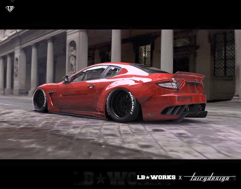Liberty Walk Is Readying A Maserati Granturismo Wide