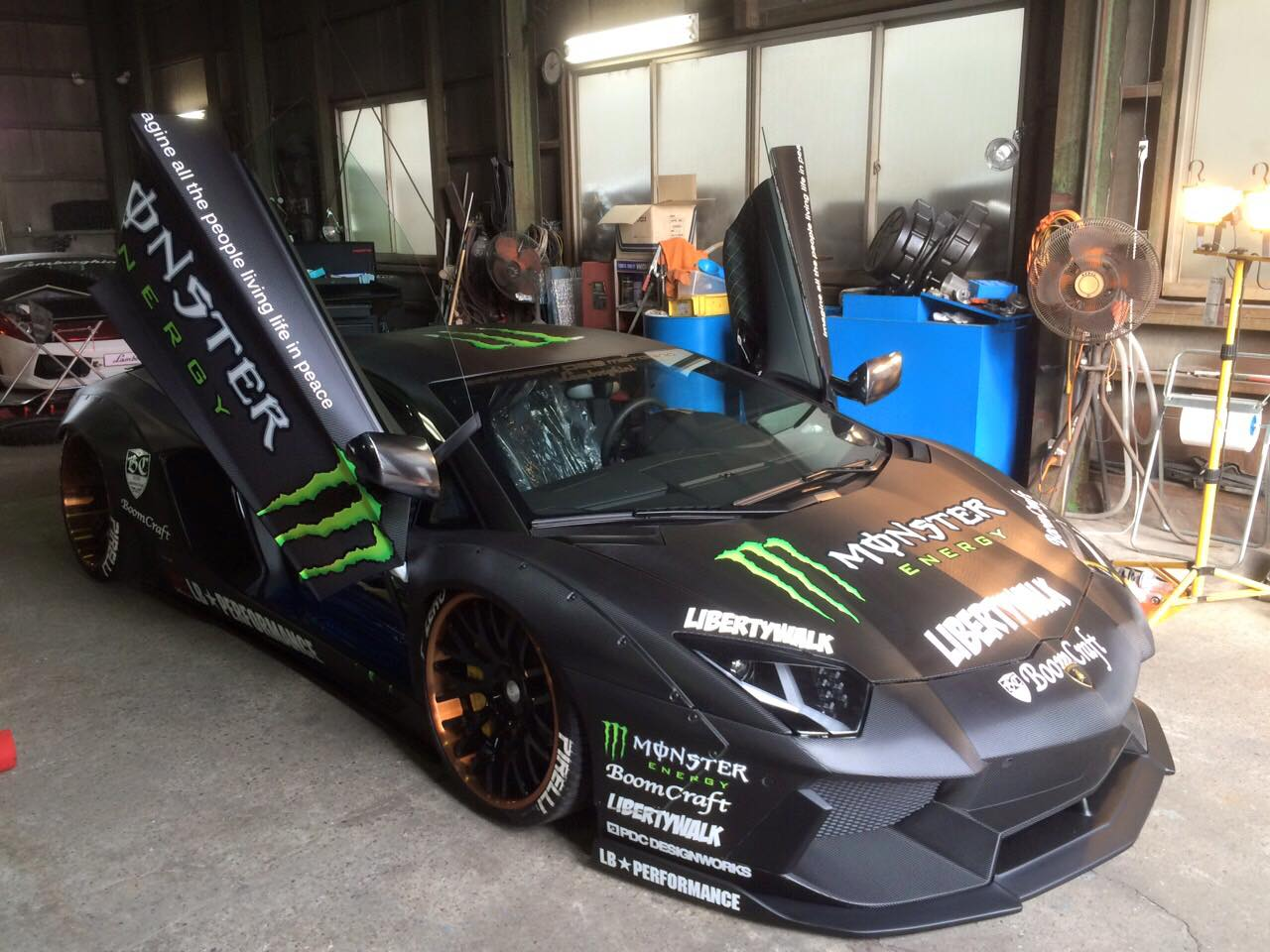 Liberty Walk Lamborghini Aventador With Monster Livery