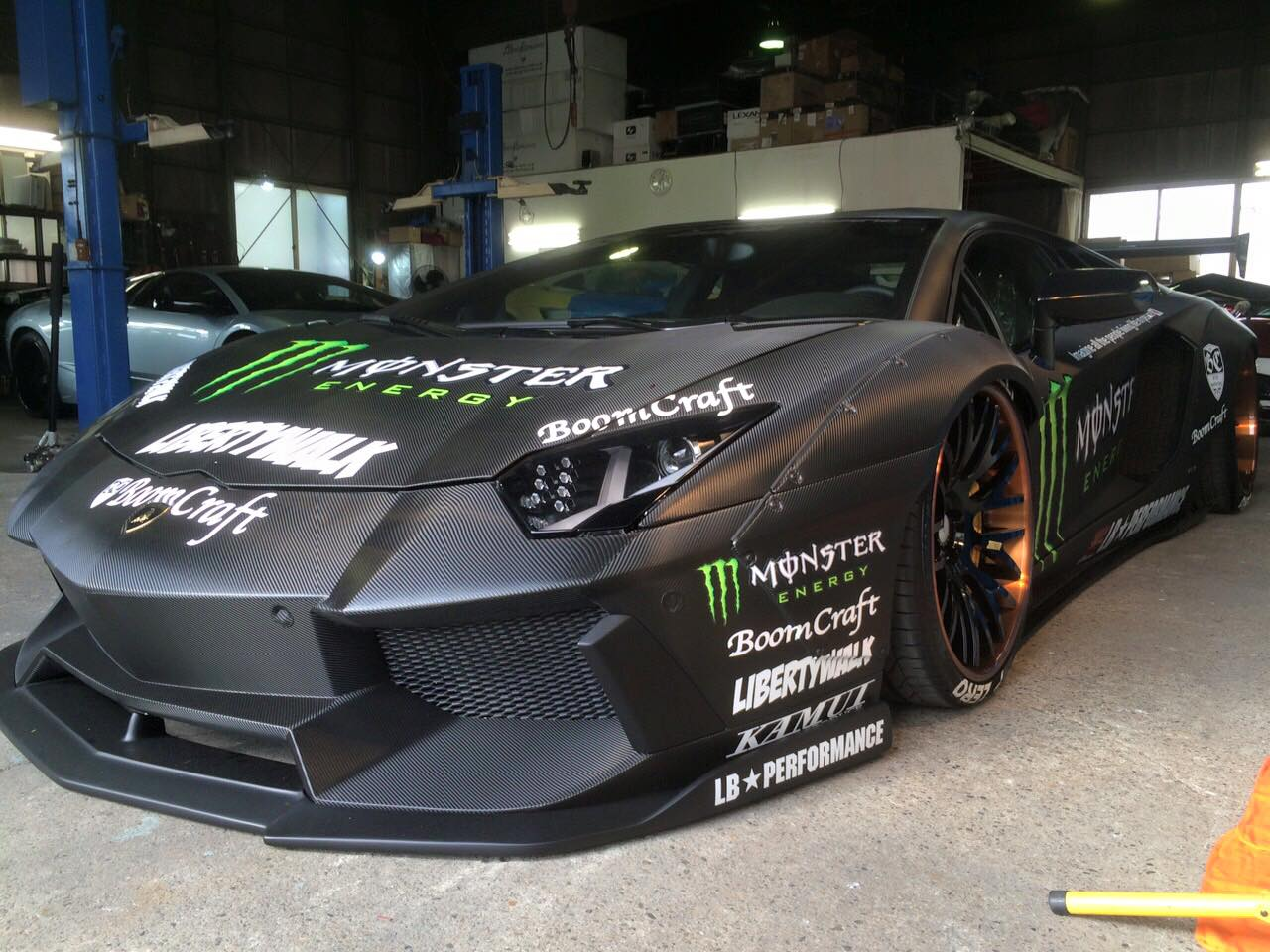 Challenger Scat Pack >> Liberty Walk Lamborghini Aventador with Monster Livery Looks like a Drift Car - autoevolution