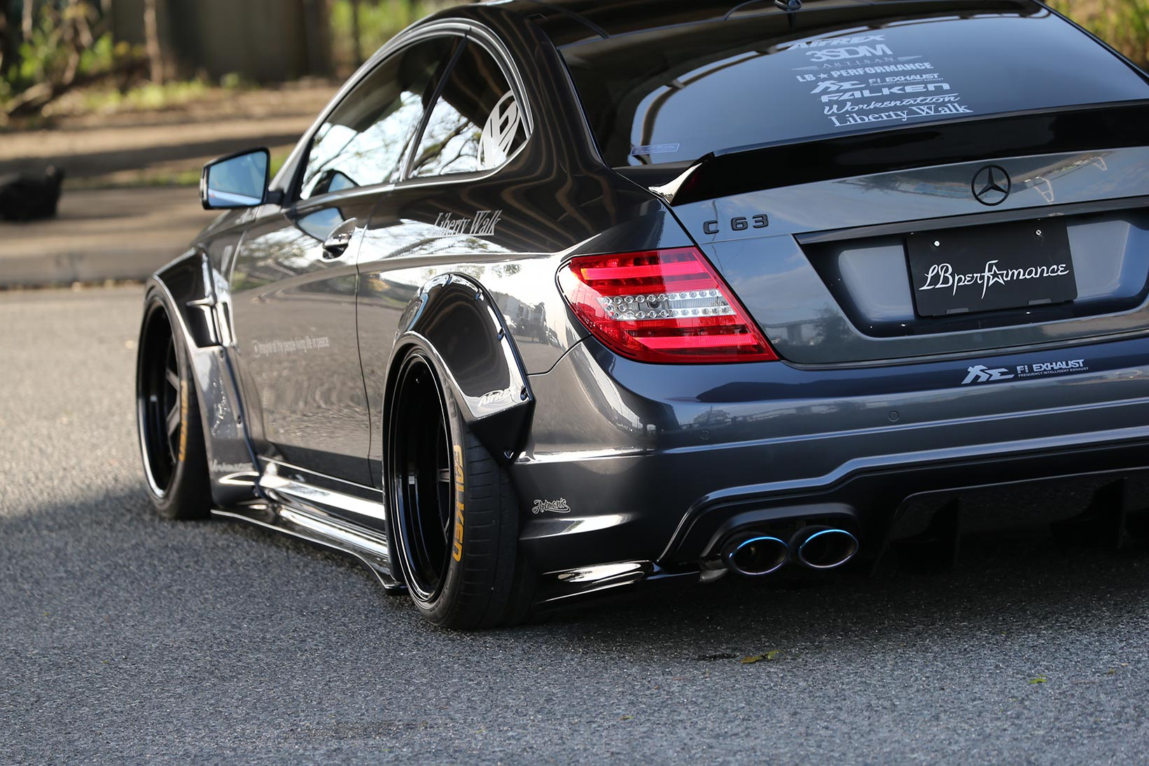 Liberty walk mercedes benz c63 amg coupe is the angry for Mercedes benz e amg