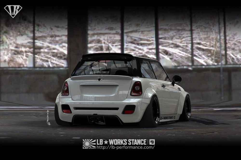 MINI Hardtop With Liberty Walk Wide Body Kit