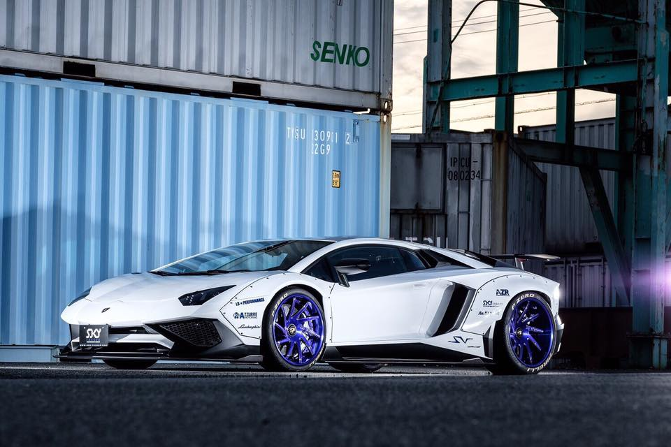 Liberty Walk Widebody Lamborghini Aventador Sv Is Insane On Another