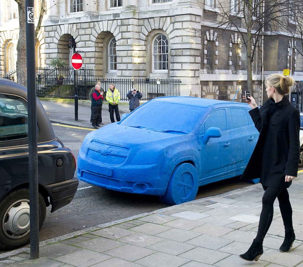 Life Sized Play Doh Car Marks Chevy Orlando MPV UK Launch