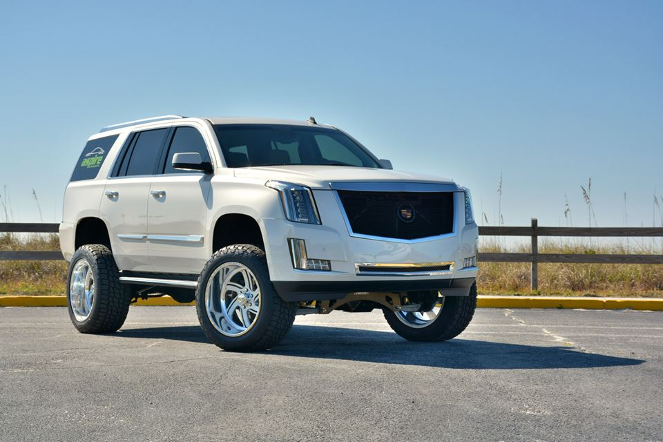 Honda Recon Aftermarket Parts Lifted Cadillac Escalade 2015 model year by Aspire Autosports and