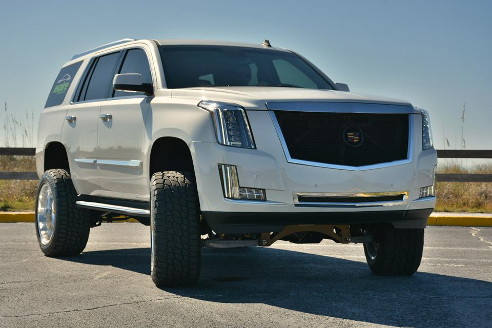Lifted Cadillac Escalade Wears 22-Inch American Force ...