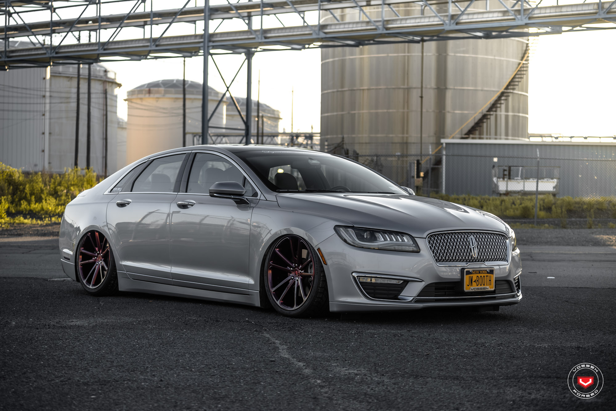 lincoln tuning 2017 mkz lowered on vossen wheels. Black Bedroom Furniture Sets. Home Design Ideas