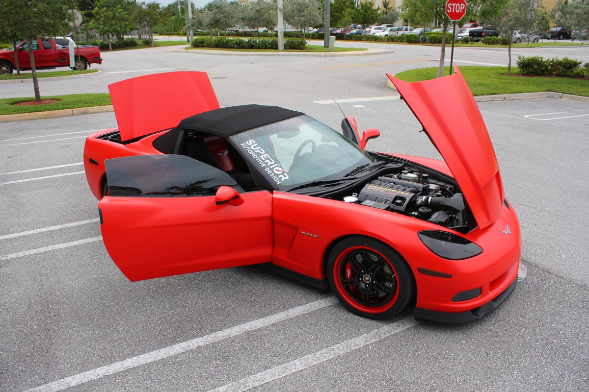 Lingenfelter C6 Corvette Matte Red Wrap Autoevolution