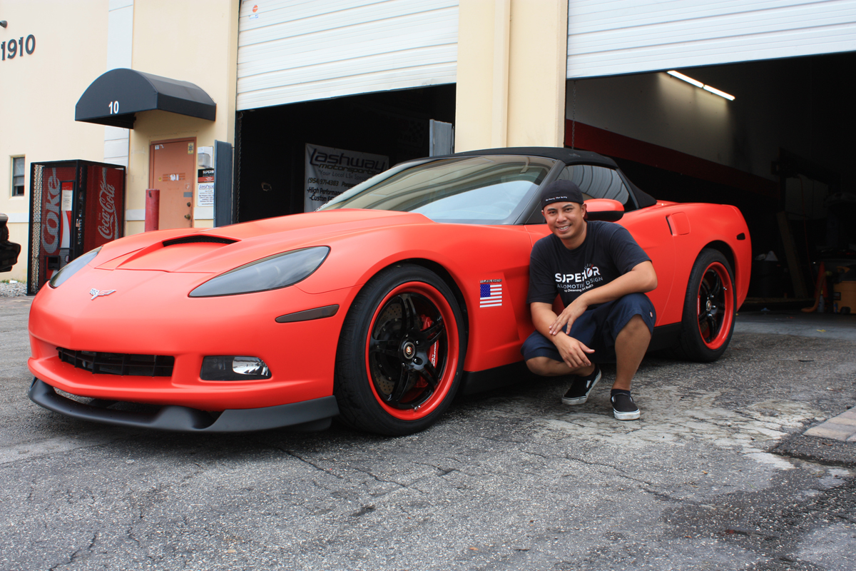 Lingenfelter C6 Corvette Matte Red Wrap  autoevolution