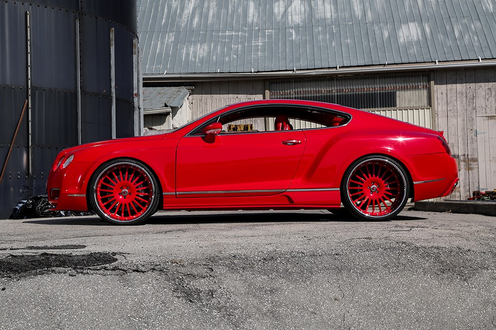 Performance Auto Body >> Lipstick Red Bentley GT Sports Widebody Kit and Forgiato Wheels - autoevolution