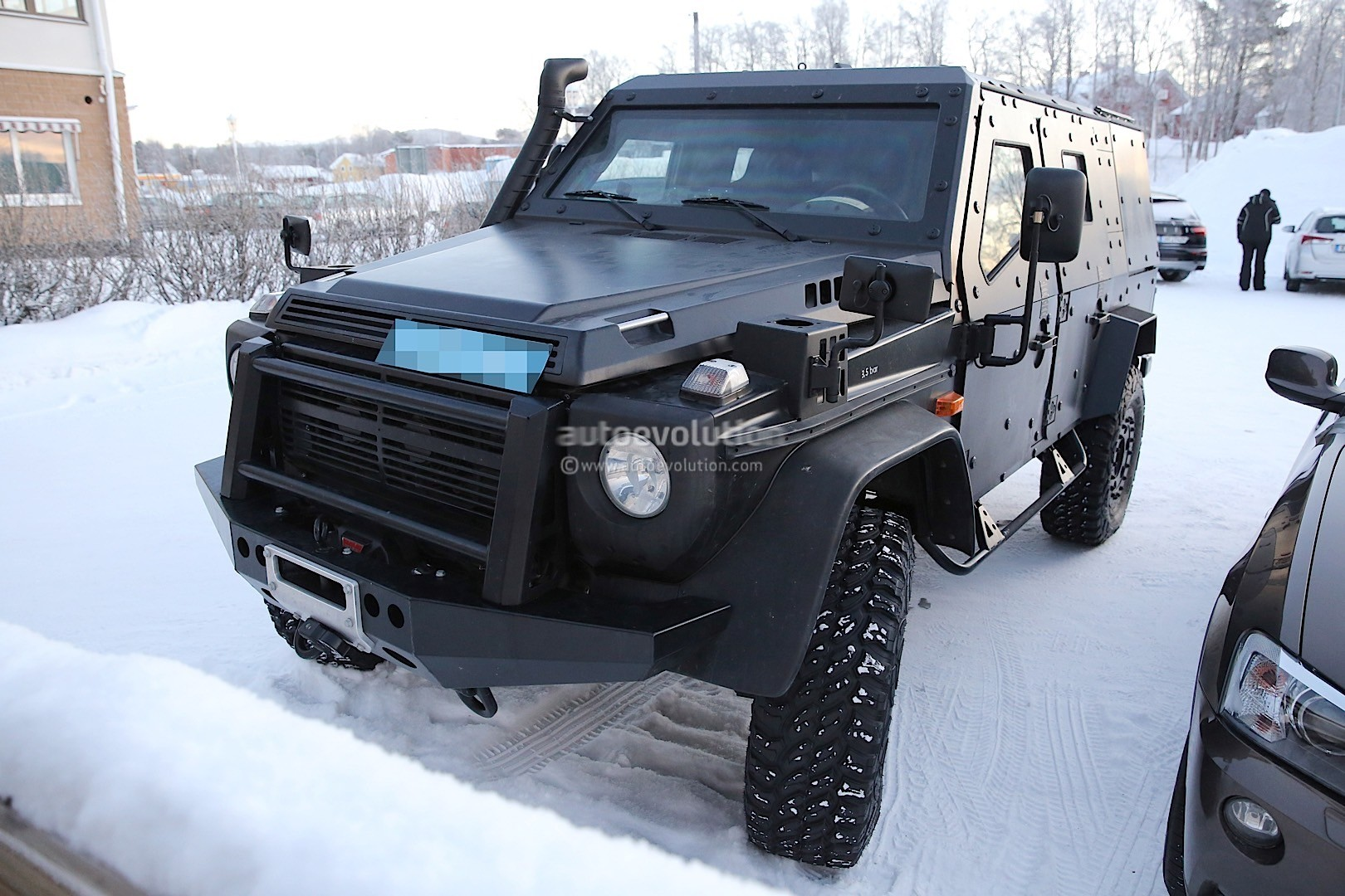 Look What The Snowcat Dragged In A Mercedes Benz G Class