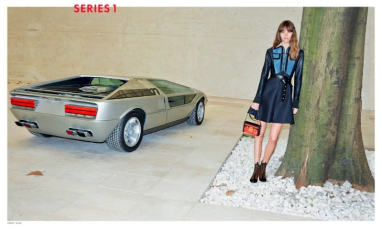 louis vuitton fall campaign features the 1972 maserati boomerang